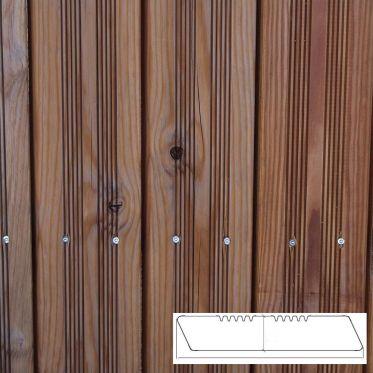 Terrasse en Pin des landes biseauté rustique LSB