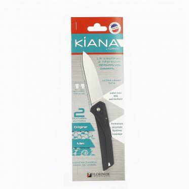 Couteau Kiana à lame lisse en inox gris anthracite