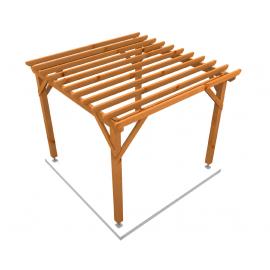Pergola Ecoplus en bois massif douglas 9m²