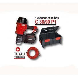 Kit cloueur C38/90 P1 pneumatique pour pointes en rouleaux Alsafix
