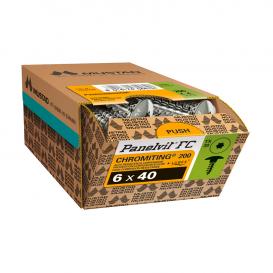 Vis Panelvit FC TX30 Ø7 mm pour pentures chrome