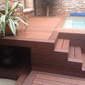 Terrasse en frêne thermo THT lisse choix A 21 x 140 mm