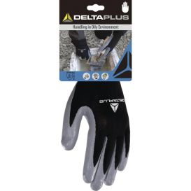 Gant tricot polyester/paume nitrile DPVE712GR