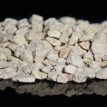 Agrégats décoratifs concassés Calcaire dur Ambre