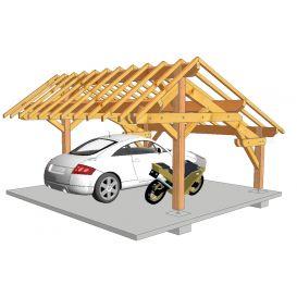 Carport bois douglas aménagé 5.4mx5.43 m S