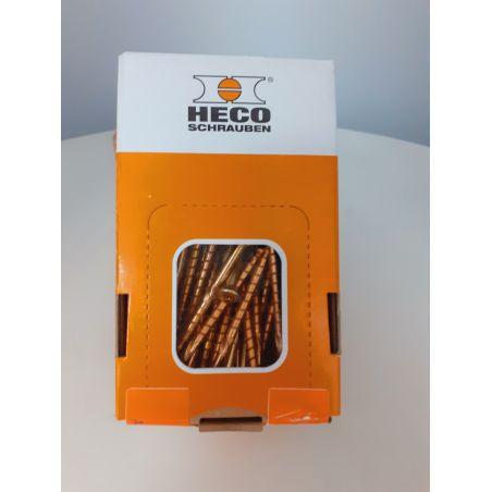 Vis Heco Topix plus couleur zinc jaune
