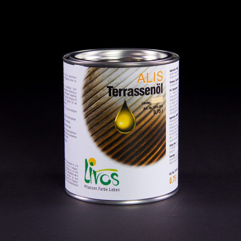 Livos - Huile terrasse ALIS 579 - Conditionnement Par 2.5 L - Teinte Teck clair