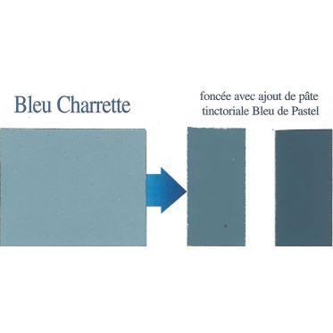 Peinture naturelle bleu charrette nuancier