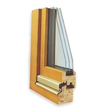 Fen tre en bois fen tre en bois triple vitrage bieber for Fenetre double vitrage en bois