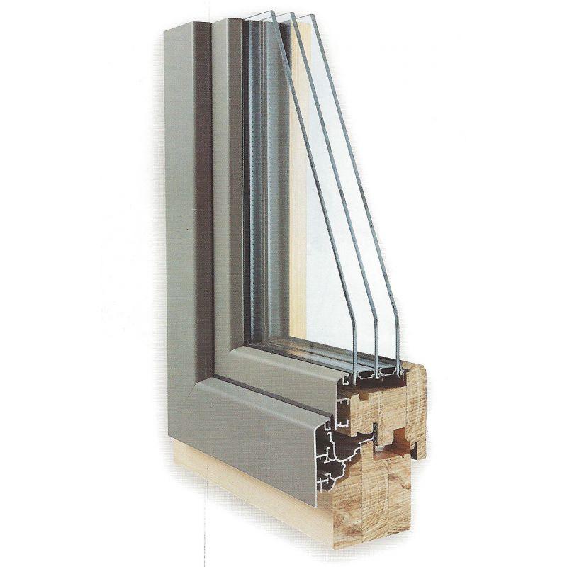 Fen tre bois alu fen tre mixte bois aluminium bieber for Fenetre double vitrage bois