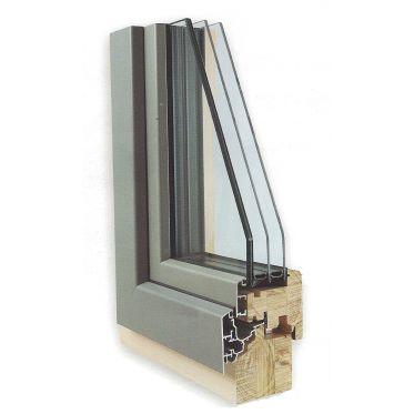 Fenêtre bois/aluminium Duoba 15 - 78 mm