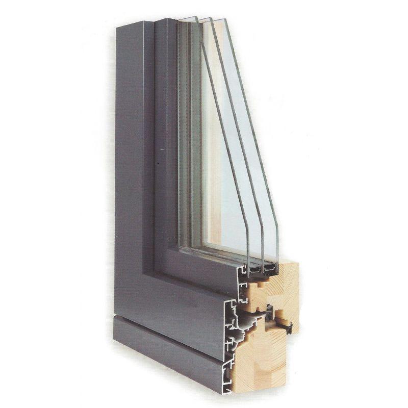 Fen tre bois alu fen tre mixte bois aluminium duoba 15 for Fenetre triple vitrage aluminium