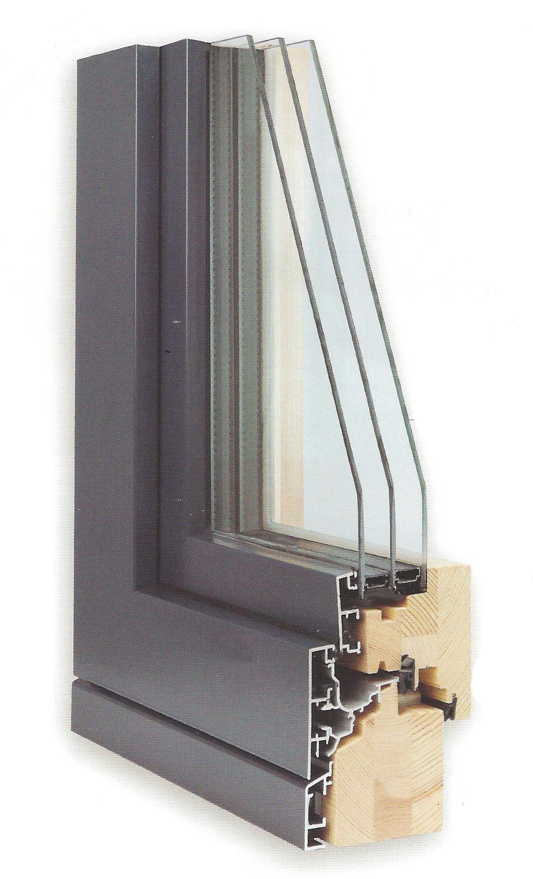 Souvent Fenêtre bois, bois/alu et alu - Kenzai YQ21
