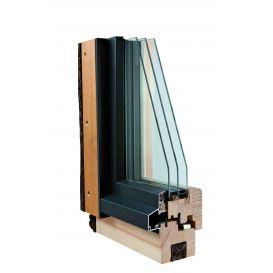 Fenêtre passive en bois/aluminium Optiwin