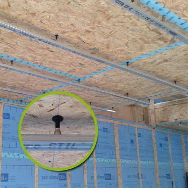 Supports de rails pour plafonds Sixbox