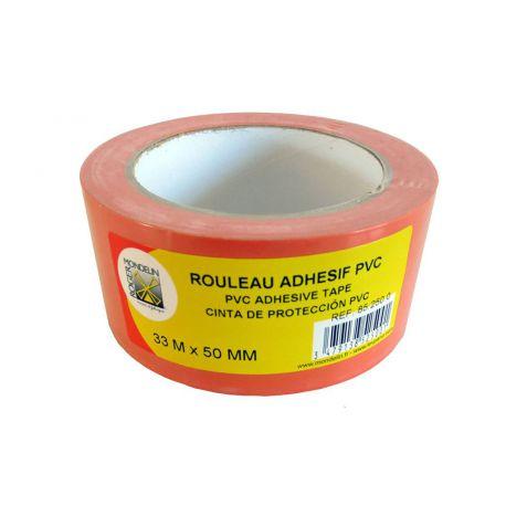 Rouleau adhésif PVC orange