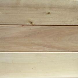 Lambris peuplier choix rustique brut poncé, 16 x 150 mm