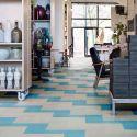 Marmoleum Modal, gamme Colour, dalles en linoleum