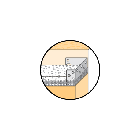 Arrêt latéral perforé alu