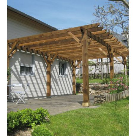 Pergola bois douglas modulable for Photo pergola bois