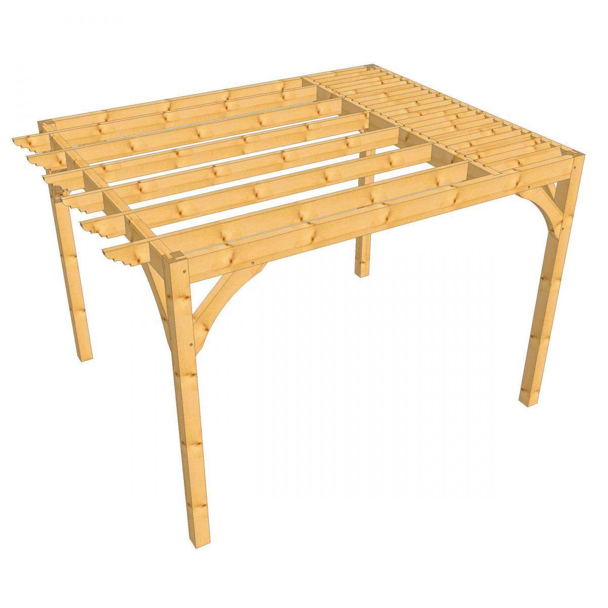 pergola en bois douglas. Black Bedroom Furniture Sets. Home Design Ideas