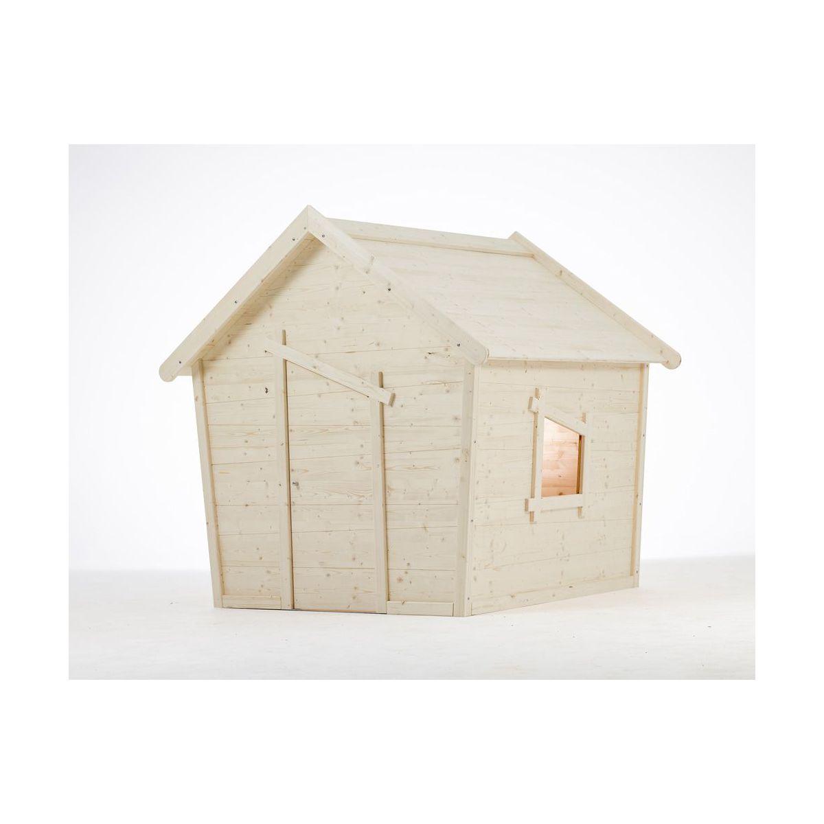 Cabane en bois aldebaran xl en bois brut for Prix cabane en bois