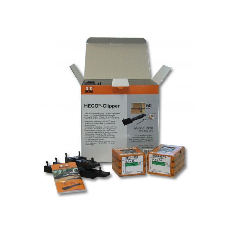 Kit Clipper système de fixation pour terrasse en bois ou en composite