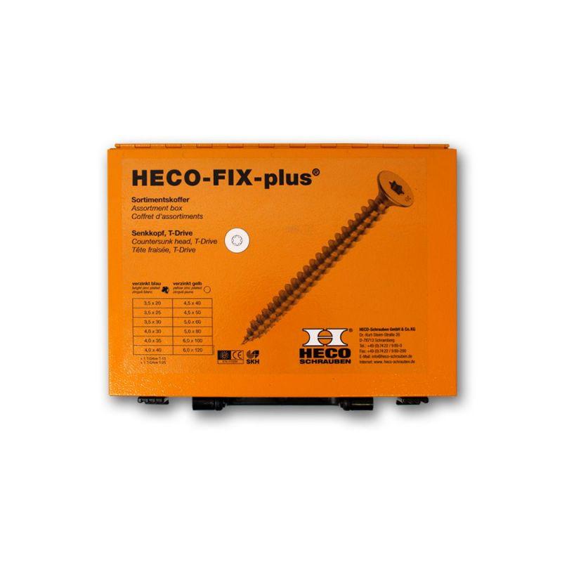 Coffret d'assortiment de vis Heco Fix-Plus T-Drive zingué blanc