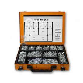 Coffret d'assortiment de vis Heco Fix-Plus T-Drive zingué blanc