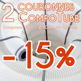 Lot de 2 gaines de ventilation Comfotube Zehnder - L50m