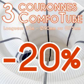 Lot de 3 gaines de ventilation Comfotube Zehnder - L50m