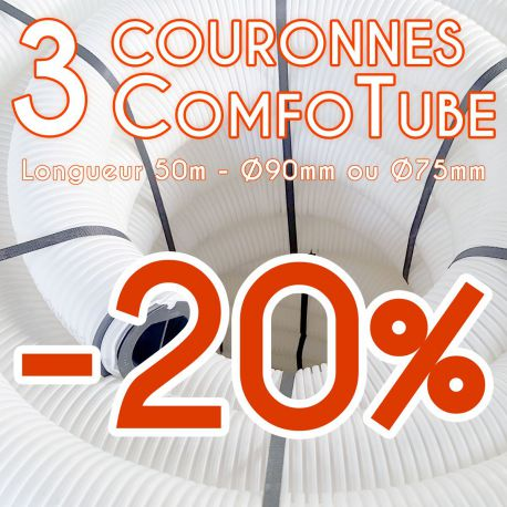 Lot de 3 gaines de ventilation Comfotube Zehnder - L50m