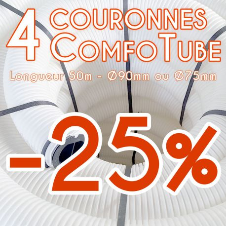 Lot de 4 gaines de ventilation Comfotube Zehnder - L50m
