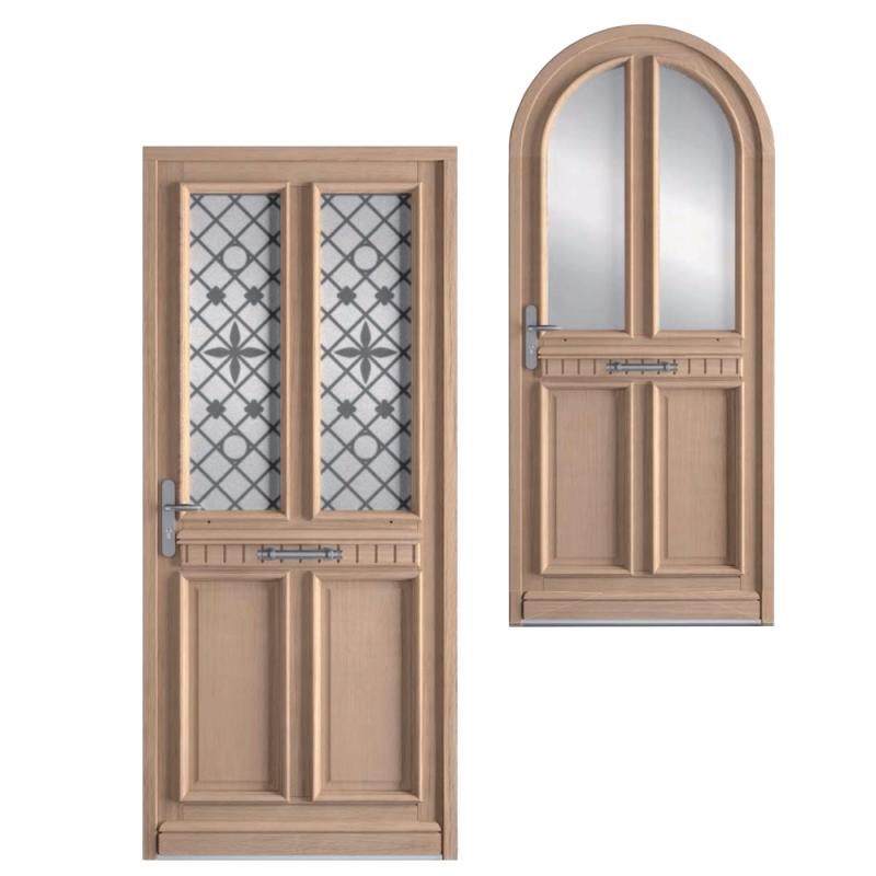 Portes d'entrée en bois traditionnelles Bremaud