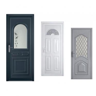 Porte d'entrée traditionnelle en aluminium