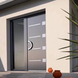 Porte aluminium contemporaine Bremaud