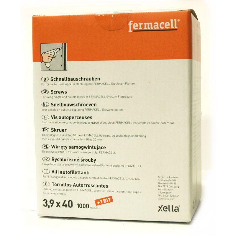 Boîtes de Vis autoperceuses Fermacell 3,9x40mm 1000