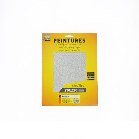 Papier abrasif anti-encrassant
