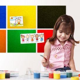 Panneau d'affichage en liège coloré