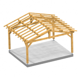 Pergola garage 2 pentes City
