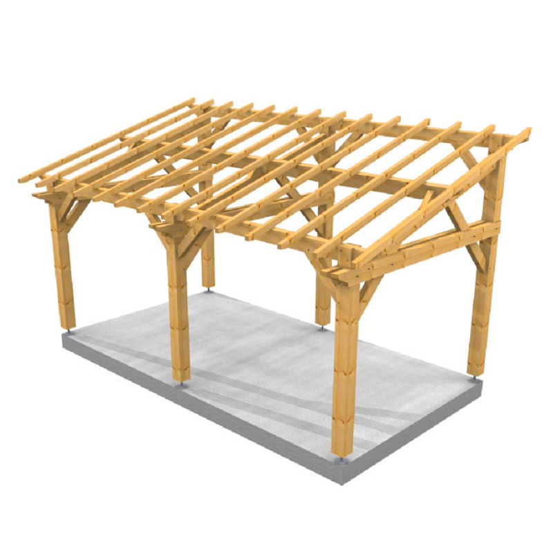 Plan Pour Construire Un Auvent En Bois auvent monopente en bois massif