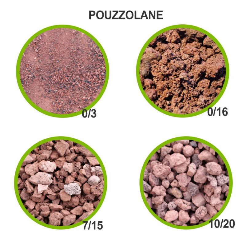 Pouzzolane Brute Rouge Standard All
