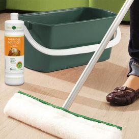 Entretien parquet Aqua oil Clean & Green Haro