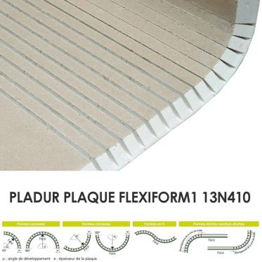 Plaque Flexiform1 13N410 Pladur