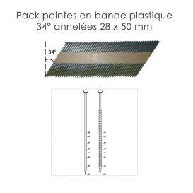 Pack pointes en bandes 34° Annelée Alsafix