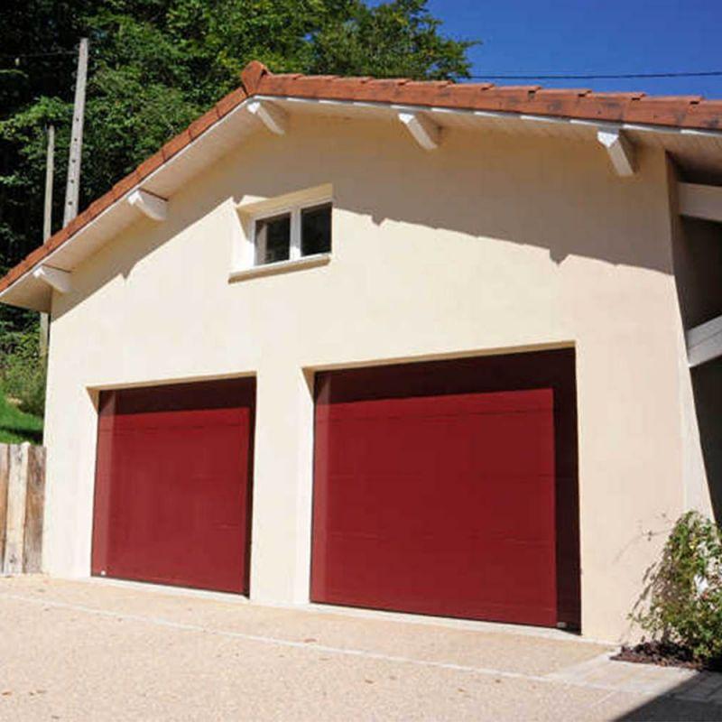 Porte de garage en acier Miami double paroi isolé France Fermetures