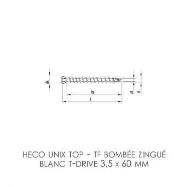 Vis plancher HECO-Unix Top...