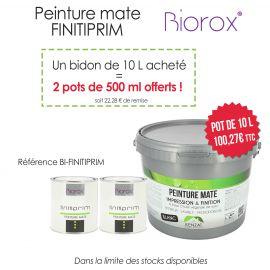 Pack Peinture mate Finitiprim 10 L achetés : 2 pots 500 ml offerts