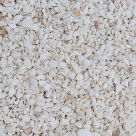 Gravier concassé Quartz Blanc