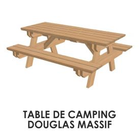 Table de camping en douglas massif